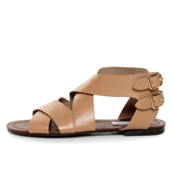 6b3619376 Steve Madden Achille s Leather Sandals Sz 5.5.